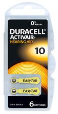 12 Stück Duracell Hearing Aid batteries Hörgerätebatterien Typ DA 10