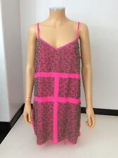 TOPSHOP NEW Pink Beaded Dress SIZE 40 Uk 12 BNWTS £125
