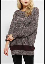 Urban Outfitters BDG women Purple Brown Zoe Knit Sweater Sz XS Cotton Blend 1027