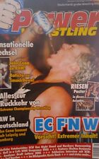 Power Wrestling 8/2005 WWE WWF TNA + 2 Poster (The Sandman, ECW vs WWE)