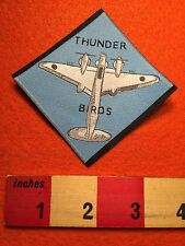 Airplane THUNDER BIRDS WOVEN LABEL ( Patch - Ish ) 66WB