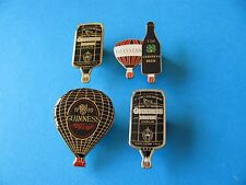 4, Guinness Hot Air Balloon Pin Badges. VGC. Unused.