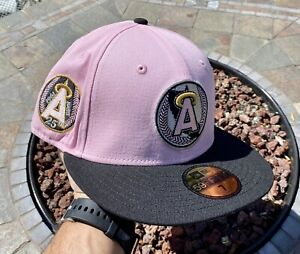 Hat Club Exclusive New ERA  Los Angeles Angels Patch heartthrob Size 7 Fitted