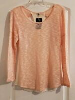Ya Los Angeles Boutique Size Large Women's Long Sleeve Sheer Back Shirt Top