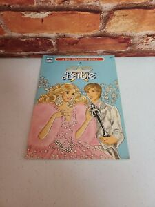 Vintage Barbie Golden A Big Coloring Book Uncolored In