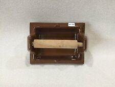"BA-1050 NOS Vintage Ceramic Bathroom Brown Toilet Paper Roll Holder 6.5 x 5"""