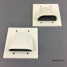 LOT OF 2 White Organize Bulk Wire/Cable Double Wall Face Plate Low Voltage NEW.