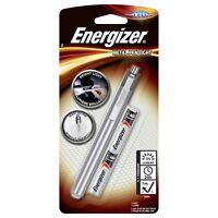 Energizer LED Metal Pen Light Torch Flashlight Penlite 2 x AAA Batteries Inc