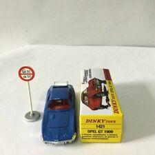 Dinky Toys 1421 - Opel Gt 1900 Speedwheels Super Rapide Bleu 1:43
