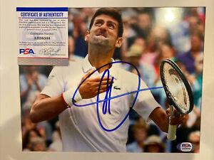 Novak Djokovic Signed Photo PSA