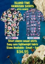 Trendz Hawaiian Island Time Short Sleeve Shirts