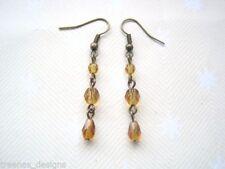 Glass Art Deco Drop/Dangle Costume Earrings
