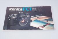 Bedienungsanleitung für Konica FC-1 analoge SLR Kamera  Manuals  / BA027