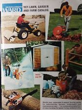 Montgomery Ward 1971 Farm Catalog COLOR Riding Lawn Garden Tractor 172pg Gilson