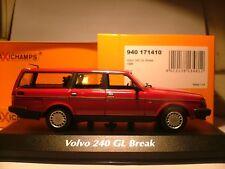 Wow superbe nouvelle minichampsmaxichamps 1/43 1986 VOLVO 240 GAL BREAK exceptionnel NLA