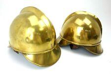 2x Feuerwehr Helm messing antik um 1910 deutsches Reich ji036