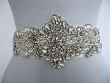 Rhinestone & Pearls Applique Wedding Sash Ivory Bridal Sash Belt Dress Ama