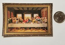 Miniature Dollhouse 1/12 Scale poster Pictures Wall Art Last Supper Jesus
