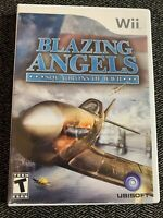 BLAZING ANGELS SQUADRONS OF WWII - Wii - COMPLETE W/MANUAL - FREE S/H - (C)