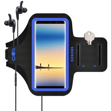 Galaxy Note 8 Armband/S8 Plus Armband SOSONS Water Resistant Sports Gym Case for