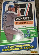 2021 Panini Donruss Baseball Hobby Box Packs New Factory Sealed Auto/Relic!!