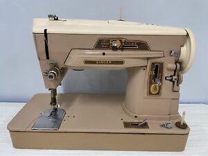 Singer 403a Slant-O-Matic Sewing Machine w/ Box of Accessories..parts/rebuild