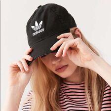 2351bbcb79c50 adidas Originals Black white Trefoil Hat Strapback Cap OSFA