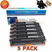 5PK Black CF380A Toner Cartridges for HP 312A Laserjet MFP M476nw M476dn M476dw