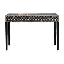 Handmade Antique Bone Inlay Moroccan Mosaic Wooden Vintage Console Table