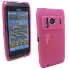 NEW Pink Jelly Case Cover Gel Skin for Nokia N8 + SP