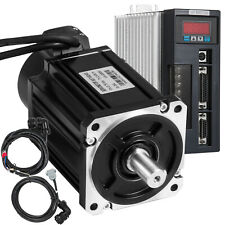 Servo Motor 0.75KW 2.4NM AC Servo Driver Kit CNC Electronic 6.4Mh Magnetic