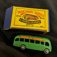 Lesney Matchbox London to Glasgow bus  21a Bedford Coach Green with box
