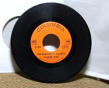 CLAUDE KING THE BURNING OF ATLANTA / DON'T THAT MOON LOOK LONESOME 45 RPM RECORD