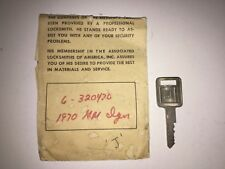 BUICK CHEVY PONTIAC GMC IGNITION KEY BLANK STAMPED 'J' NOS GM 320470
