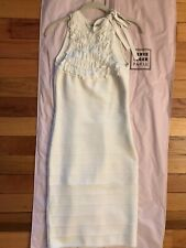 Herve Leger Paris White Bodycon Dress Small -Stunning!