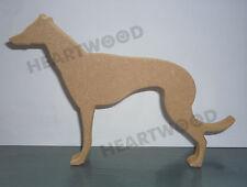 GREYHOUND DOG SHAPE MDF (18mm thick)/WOODEN CRAFT SHAPE/BLANK DECORATION