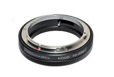 FD-EOS Adapter Canon FD Lens to Canon EOS Body Macro No Glass No Infinity Focus
