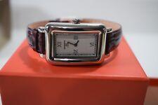 Kenneth Jay Lane Women's Watch Textured Dial Purple Genuine Leather