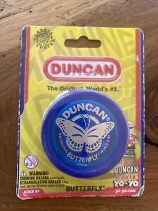 NEW Duncan Butterfly Yo-Yo - String Included, Steel Axle and Plastic Body Blue
