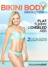 TRACEY MALLETT BIKINI BODY ABSOLUTION EXERCISE WORKOUT DVD NEW SEALED 2 WORKOUTS