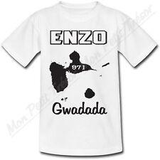 T-shirt Enfant Guadeloupe avec Prénom Personnalisé