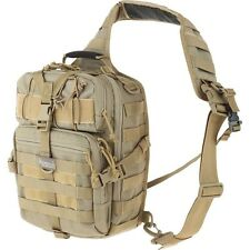 Brown Outdoor Tactical Gearslinger Backpack, Malaga Hike Run EDC Sport Sling Bag