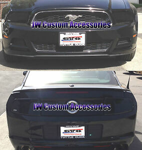 Fits 13-14 Ford Mustang V6 GT GTS Smoke Acrylic Headlight Taillight Covers 4pc