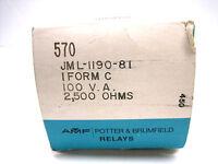 New Potter & Brumfield JML-1190-81 Mercury Wetted Relay JML119081