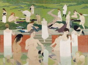 Felix Vallotton The Bath Summer Evening Giclee Canvas Print  Poster