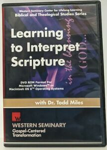 Dr. Todd Miles LEARNING TO INTERPRET SCRIPTURE 2 DVD-ROM Set Christian Bible