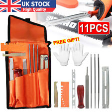 11PCS Chainsaw Sharpening File Filing Chain Sharpen Saw Files Tool Set For Stihl