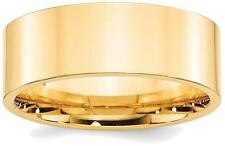 14K Yellow Gold 8mm Standard Flat Comfort Fit Band Ring