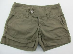 Billy Blue sh716 Size 6 Women's Brown 100% Cotton Casual Shorts w Pockets