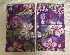 SPRINGS INDUSTRIES 2 Pillow Shams Hawaiian hibiscus purple/pink